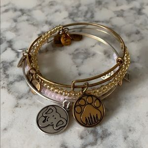 Alex and Ani adjustable bangle bracelet set